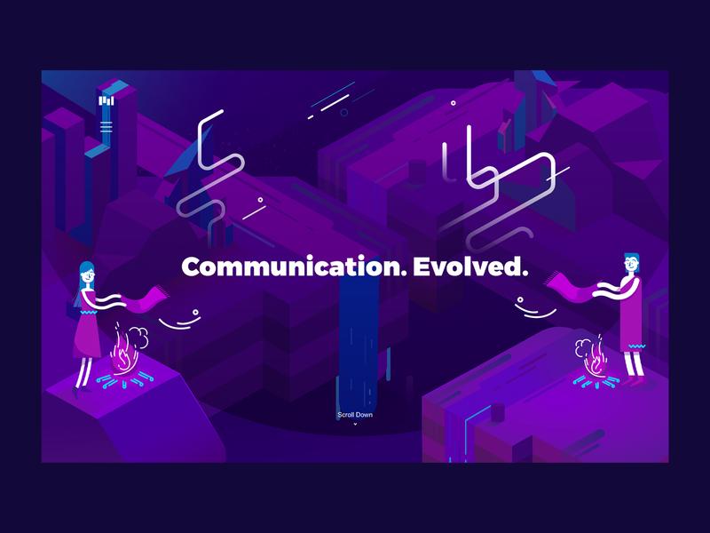 Communication Evolved | Smoke Signals visual identity illustration