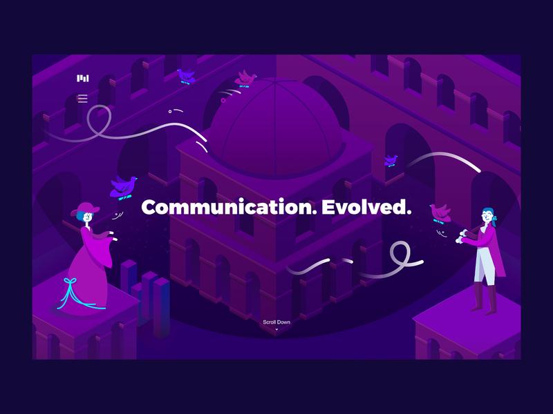 Communication Evolved | Carrier Pigeon visual identity illustration