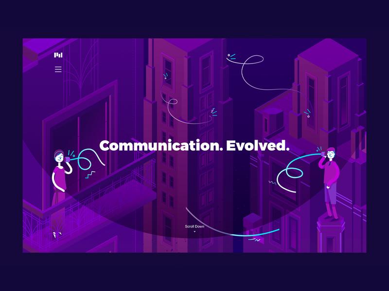 Communication Evolved | Tin Can Telephones visual identity illustration