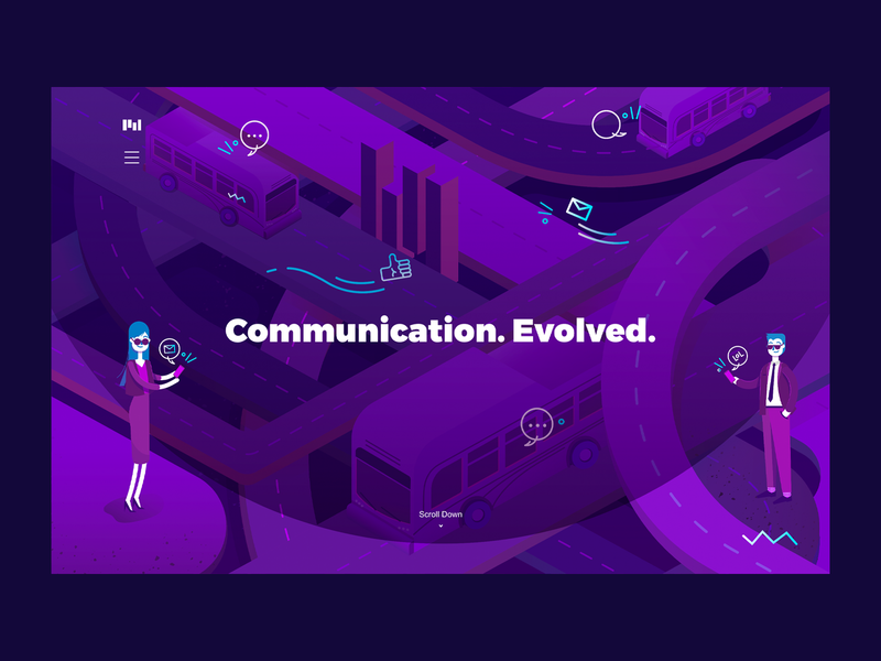 Communication Evolved | Mobile Phones visual identity illustration