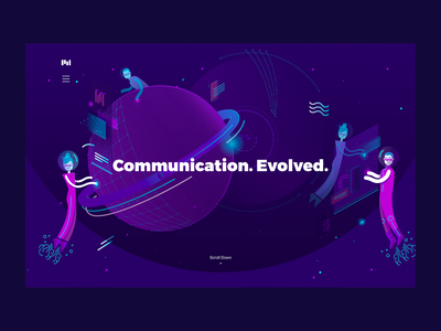 Communication Evolved | The Future visual identity illustration