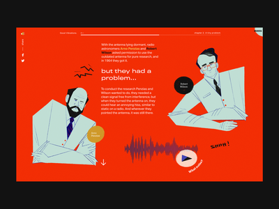 A tiny problem website ui visual identity illustration