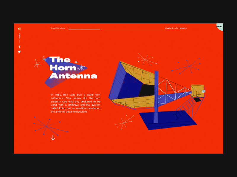The Horn Antenna website ui visual identity illustration