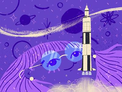 016 Rocket inktober2020 illustration
