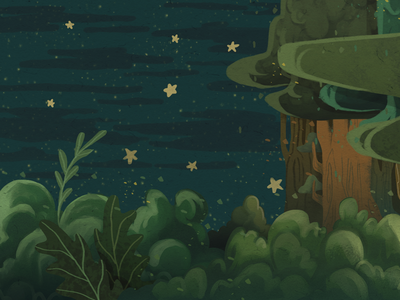 Night Forest 1 concept art illustration