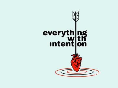Intention visual identity graphic concept art illustration