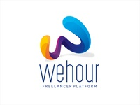 wehour w letter abstract colorful letter web freelance