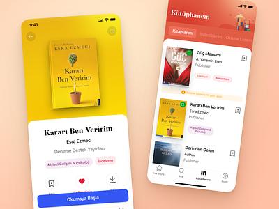 E-book Mobile Application Design application mobile android app ios ux ui design book e-kitap e-books e-book