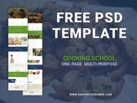 Cooking School - Free PSD Template (Coming soon...)