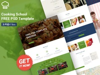 Cooking School - FREE PSD Template