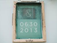 Wedding logo screen