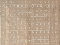 Burlap word search