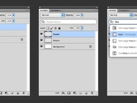 Photoshop search layers