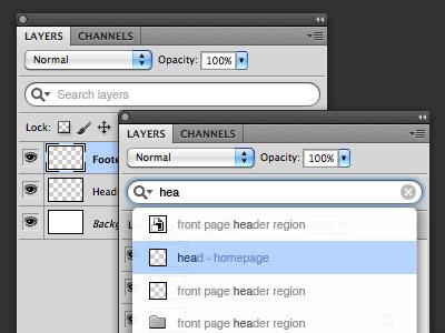 Search Photoshop Layers photoshop search layers plugin idea