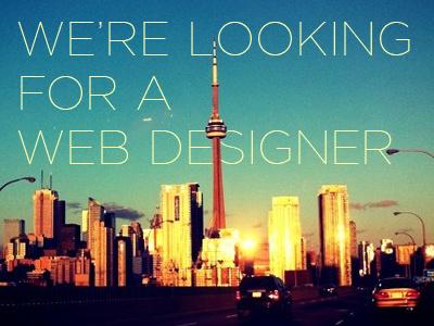 Looking for a Web Designer in Toronto hiring job web designer jonah group toronto