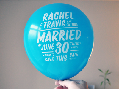 Save The Date wedding save the date balloon invitation