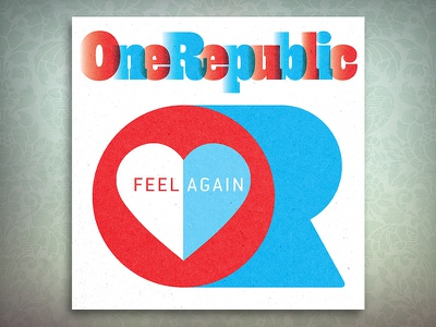 OneRepublic graphic design album cover design for music art direction
