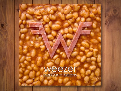 Weezer Pork And Beans graphic design album cover design for music art direction
