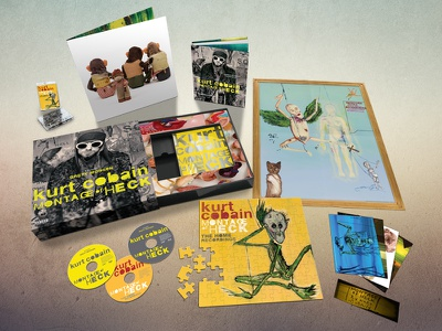 Montage of Heck Box Set graphic design album cover design for music art direction