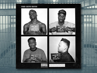 The Ghetto Boys graphic design album cover design for music art direction