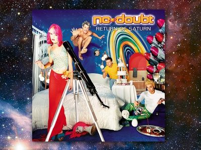 No Doubt Return Of Saturn graphic design album cover design for music art direction