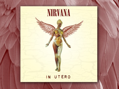 Nirvana In Utero graphic design album cover design for music art direction