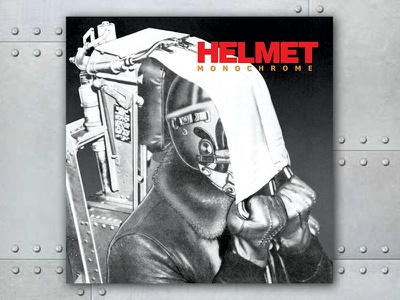 Helmet Monochrome graphic design album cover design for music art direction