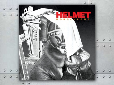 Helmet Monochrome graphic design album cover design for music art direction