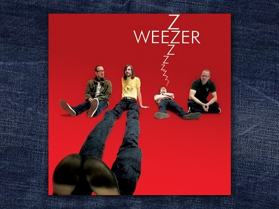 Weezer Red Album graphic design album cover design for music art direction