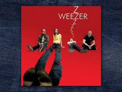 Weezer Red Album graphic design album cover design for music art direction