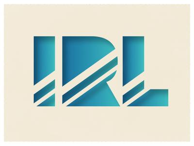 IRL Logo/Type art direction vector logo design for music graphic design design typography