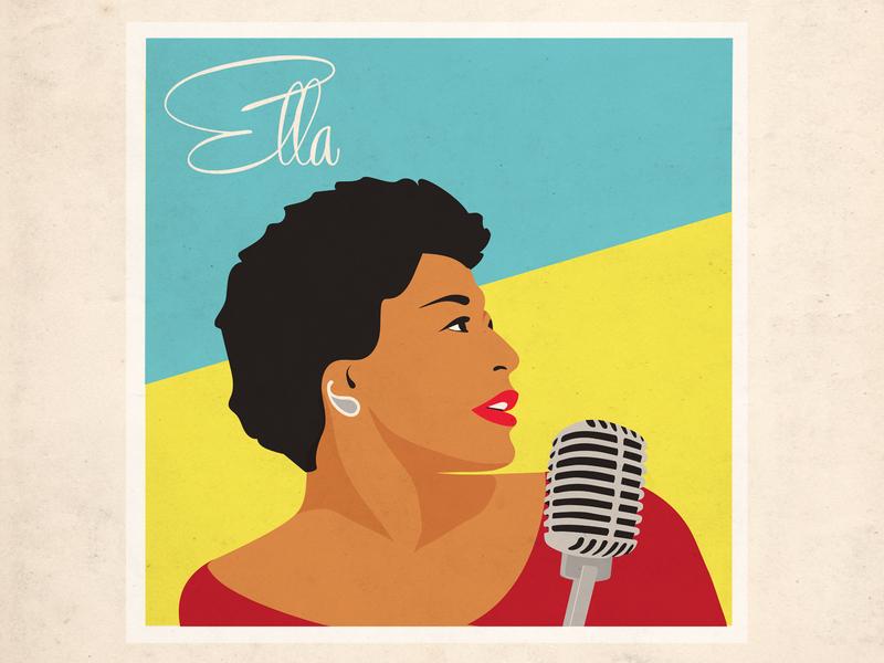 Ella Fitzgerald illustraton illustration branding style guide design design vector design for music graphic design style guide illistration art direction