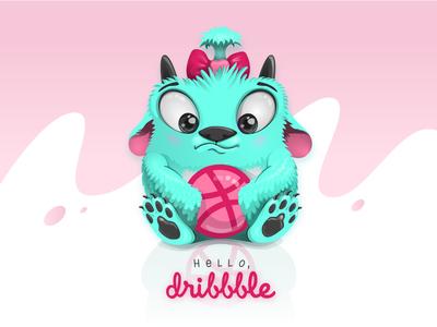 Hello Dribbble vector illustration design
