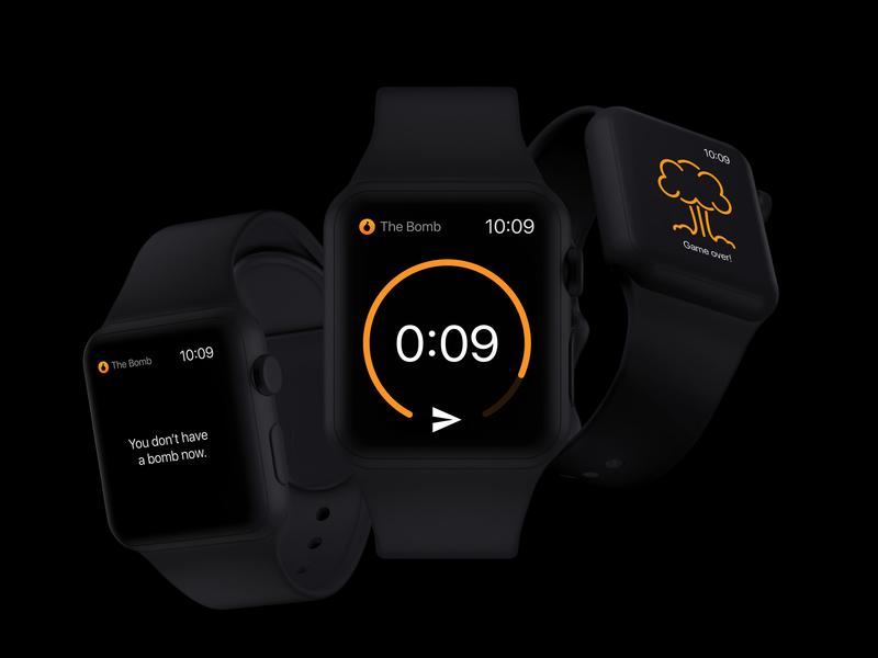 Apple Watch Bomb app apple watch ux ui design