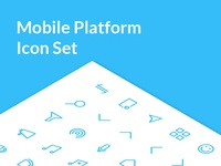 Mobile Platform Icon Set