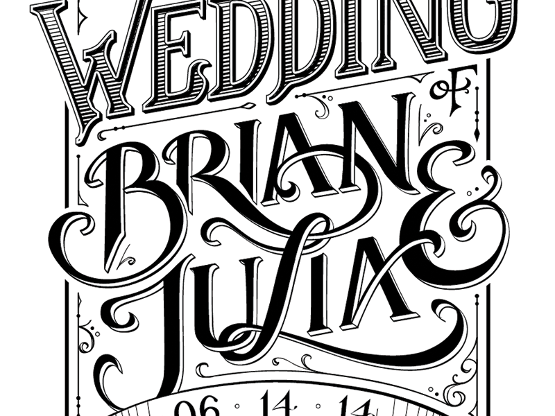 Save the Date lettering lettering typography illustrator wedding invitation save the date stamp black and white hand-lettering vector