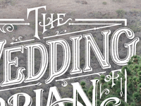 Wedding Website Lettering