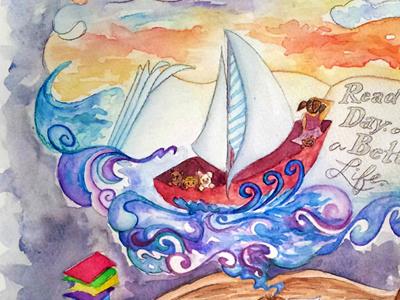 Scholastic illustrators contest entry illustration childrens scholastic watercolor paint drawing sail