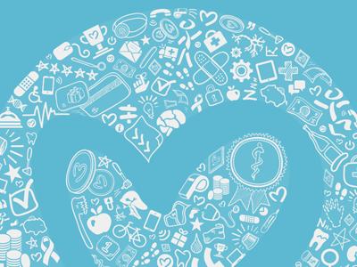 having fun with a logo I previously created logo illustration design heart medical circle insurance exercise money rewards health insurance