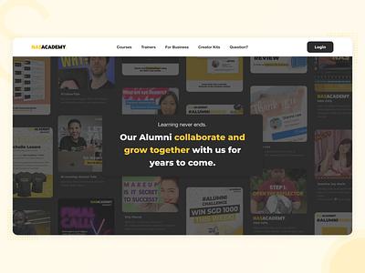 Nas Academy Homepage - Platform design ui ux nasacademy nasdaily academy platform content creator edutech education course landing page home