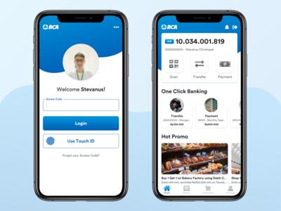 BCA Mobile Redesign Concept