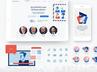 Prezident 21 application voting ui ux design identity
