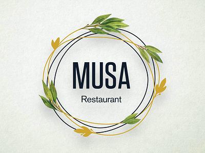 Musa Restaurant Logotype identity logo branding