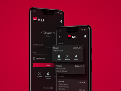 Dark Mode banking app mobile app dark mode kb