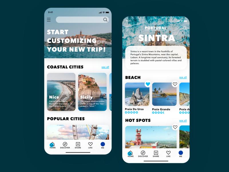 Tourism App Design app design ui