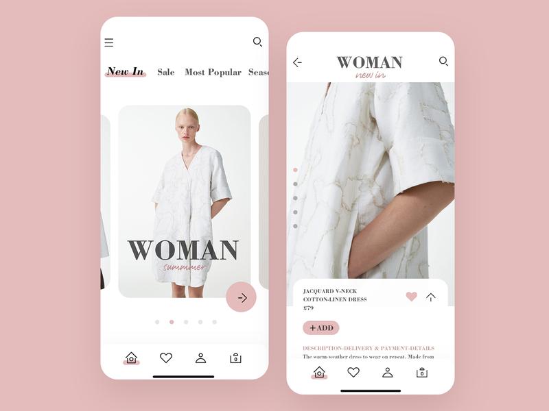 Fashion app fashion app interface design ui app icons