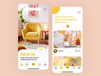 Home Design App yellow ux interface design app ui