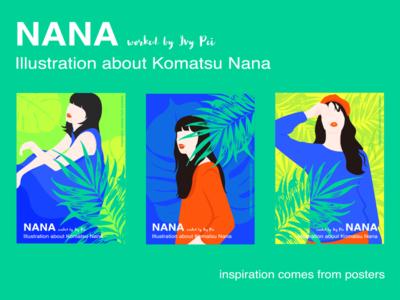 Illustration about Nana posters ui nana illustrations