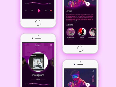 Purple!! iphone music purple interface ux ui app