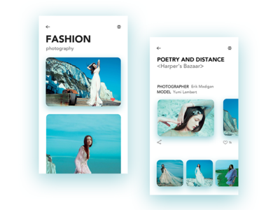 Fashion Photography photography model fashion app clean interface ux ui